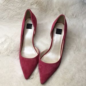 WHBM SUEDE HEELS SIZE 8